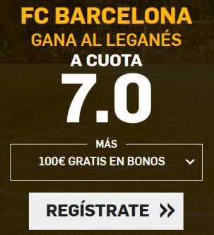 Supercuota Betfair la Liga FC Barcelona gana Leganés cuota 7.0
