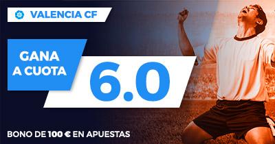 Supercuota Paston la Liga - Valencia CF gana a cuota 6.0