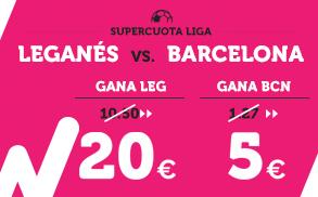 Supercuota Wanabet la Liga Leganes vs Barcelona