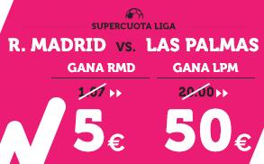 Supercuota Wanabet la liga R. Madrid vs Las Palmas