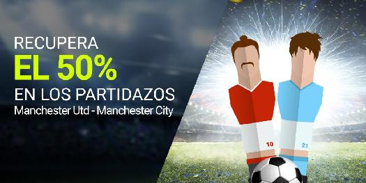 Luckia Recupera 50% en Manchester Utd - Manchester city