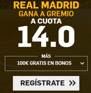 Supercuota Betfair Mundial clubes Madrid - Gremio