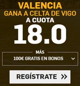 Supercuota Betfair la liga Valencia - Celta de Vigo