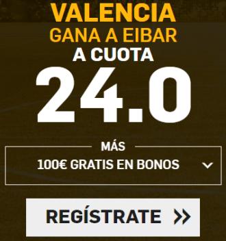 Supercuota Betfair la liga Valencia - Eibar