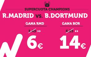Supercuota Wanabet R. Madrid vs B. Dortmund