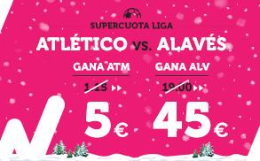 Supercuota Wanabet la liga Atlético - Alavés