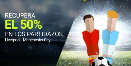 Luckia Liverpool - Manchester city 50% devolución