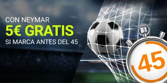 Luckia PSG - Lyon gana 5€ gratis con Neymar