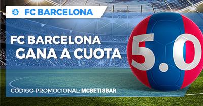 Paston la Liga FC Barcelona gana a cuota 5.0