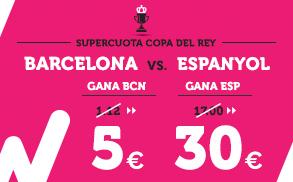 Supercuota Wanabet Copa del Rey Barcelona Espanyol