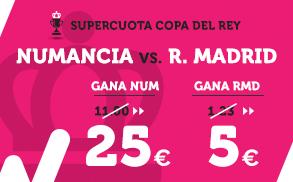 Supercuota Wanabet Copa del Rey Numancia - R. Madrid