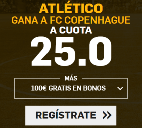 Supercuota Betfair Atlético - FC Copenhague