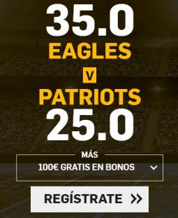 Supercuota Betfair Superbowl - Eagles vs Patriots