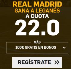 Supercuota Betfair la Liga Real Madrid - Leganes