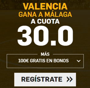 Supercuota Betfair la Liga Valencia - Malaga