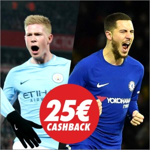 Circus Manchester City vs Chelsea 25€ cashback