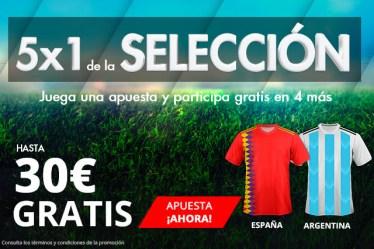 Noticias Apuestas. Suertia 5x1 de la selección 30€ gratis
