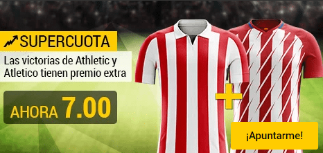 Supercuota Bwin Athletic y Atlético ganan cuota 7.00