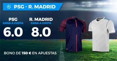 Supercuota Paston Champions League PSG - R. Madrid