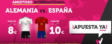 Noticias Apuestas Supercuota Wanabet Amistoso Alemania vs España