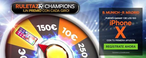 888Sport Champions League B. Munich - R. Madrid gana un iphone X