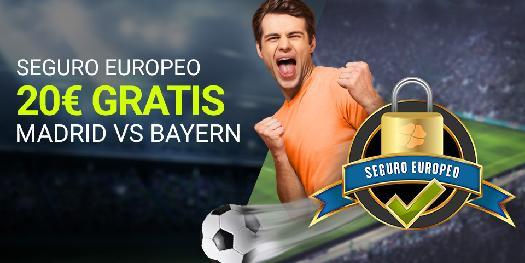 noticias apuestas Luckia Champions League Madrid vs Bayern 20€ gratis