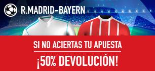 noticias apuestas Sportium Champions Promo R.Madrid-Bayern: Apuesta y si fallas ¡50% Devolución!
