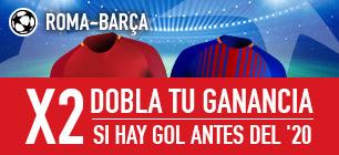 noticias Apuestas Sportium Champions Roma-Barcelona: Si hay gol antes del min. 20... ¡Doblamos tus ganancias!