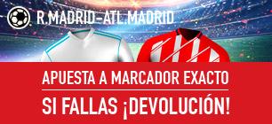 Noticias Apuestas Sportium la Liga Real Madrid - Atl . Madrid Devolución