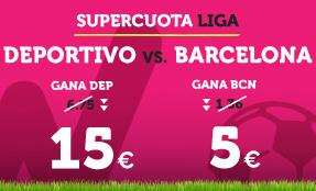 noticias apuestas Supercuota Wanabet la Liga Deportivo vs Barcelona