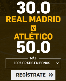 Noticias Apuestas Supercuota Betfair la Liga Real Madrid - Atletico