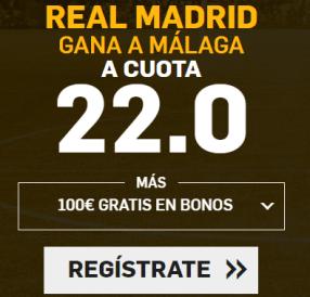 Noticias Apuestas Supercuota Betfair la Liga Real Madrid - Malaga