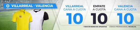 Supercuota Paston la Liga: Villareal - Valencia