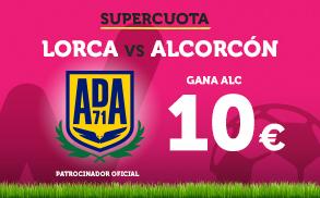 Noticias Apuestas Supercuota Wanabet Segunda División: Alcorcón gana a Lorca a cuota 10€