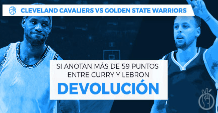 Paston NBA Cleveland - Golden State Warriors devolución