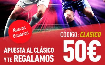 noticias apuestas Sportium El Clásico 50€ gratis!