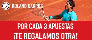 noticias apuestas Sportium Promo Roland Garros: Por cada 3 apuestas, te damos otra