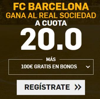 noticias apuestas Supercuota Betfair la Liga FC Barcelona - Real Sociedad