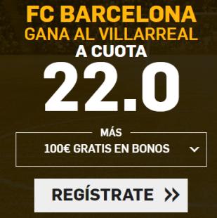 noticias apuestas Supercuota Betfair la Liga FC Barcelona - Villarreal