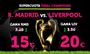 noticias apuestas Supercuota Wanabet Final Champions R. Madrid vs Liverpool