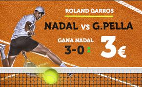 noticias apuestas Supercuota Wanabet Roland Garros Nadal vs G. Pella
