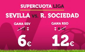 noticias apuestas Supercuota Wanabet la Liga: Sevilla cuota 6 vs R. Sociedad a cuota 12