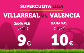 noticias apuestas Supercuota Wanabet la Liga: Villarreal cuota 9 vs Valencia a cuota 10