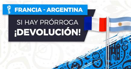 Noticias apuestas Paston Mundial Francia - Argentina Devolución si hay prórroga!