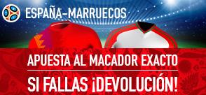 noticias apuestas Sportium España - Marruecos Devolucion