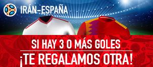 noticias apuestas Sportium Mundial Iran - España Si no aciertas te regalamos otra!