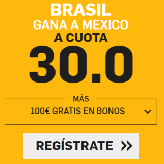 noticias apuestas Supercuota Betfair Mundial Brasil vs Mexico