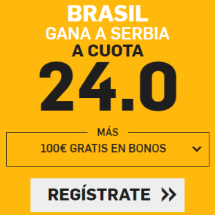 noticias apuestas Supercuota Betfair Mundial Brasil - Serbia