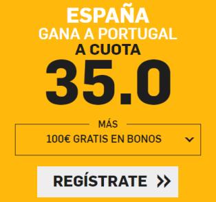 noticias apuestas Supercuota Betfair Mundial España gana a Portugal