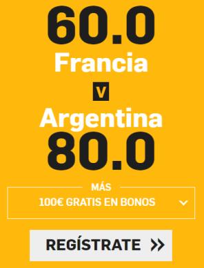 noticias apuestas Supercuota Betfair Mundial Francia - Argentina